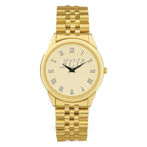 GOLD ION Link Chain ECU Men's Wristwatch