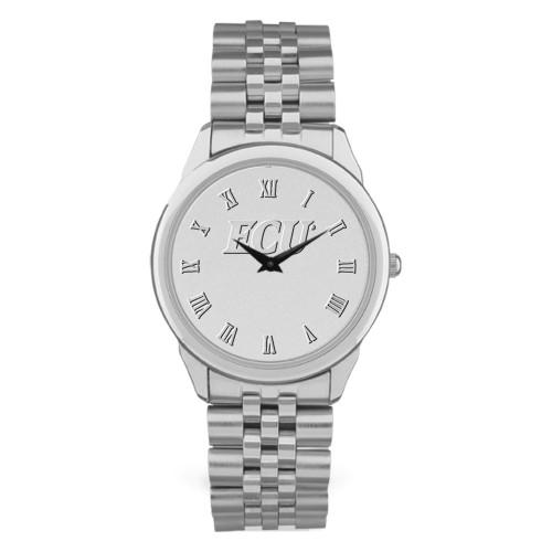 Silver Tone Link Chain ECU Men's Wristwatch