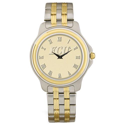 Stainless Two Tone & Gold ECU Men's Wristwatch