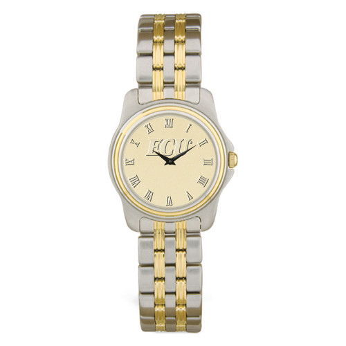 Stainless Two Tone Gold Face ECU Ladies' Wristwatch
