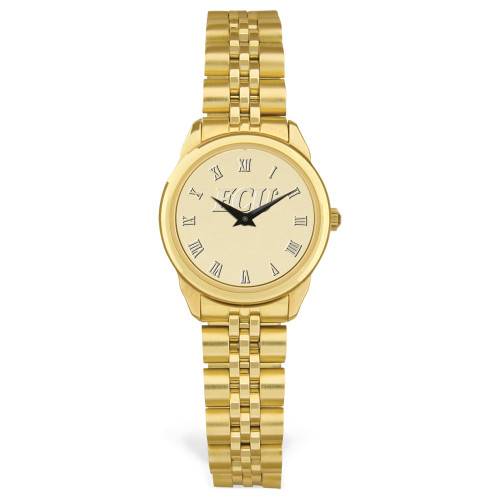 Gold ION & Gold Face ECU Ladies Wristwatch