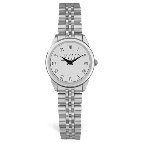 Silver Tone & Silver Face ECU Ladies Wristwatch