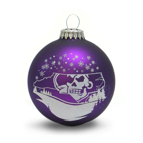 Purple Pirate State of Mind Snowscape Globe Ornament
