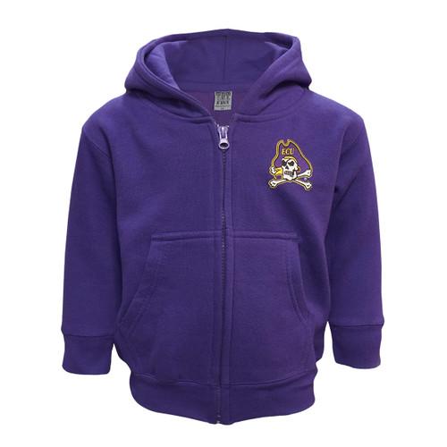 Purple Jolly Roger Toddler Full Zip Hoodie