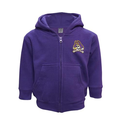 Purple Jolly Roger Infant Full Zip Hoodie