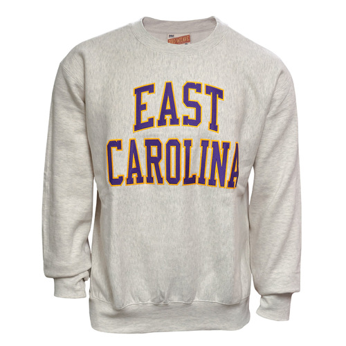 Oatmeal Twill East Carolina Arch Crew