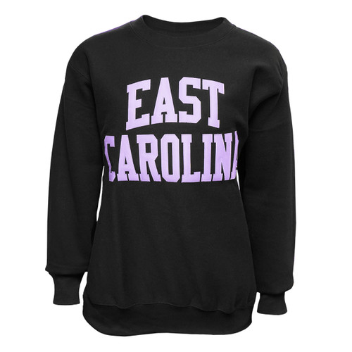 Black & Lavender Twill East Carolina Arch Crew