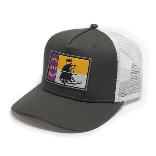Charcoal & White NC Pirates Trucker Cap