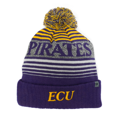 Purple Four Tone Pirates Stripe Beanie