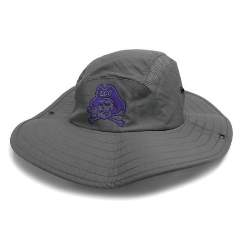 Charcoal Jolly Roger Adidas Bucket Hat