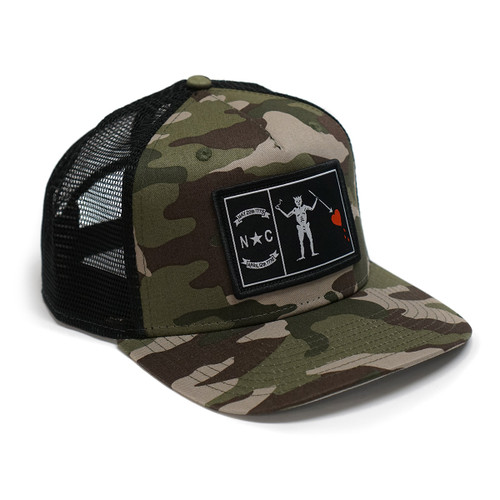 Black & Camo Blackbeard Trucker Cap
