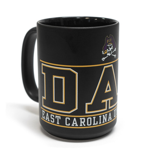 Black ECU Dad Wrap Coffee Mug