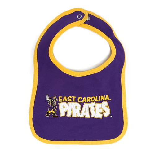 Purple & Gold Pee Dee Pirates Baby Bib