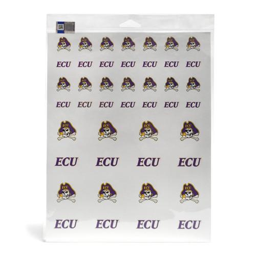 ECU Pirates Sticker Sheet - 2 Pack