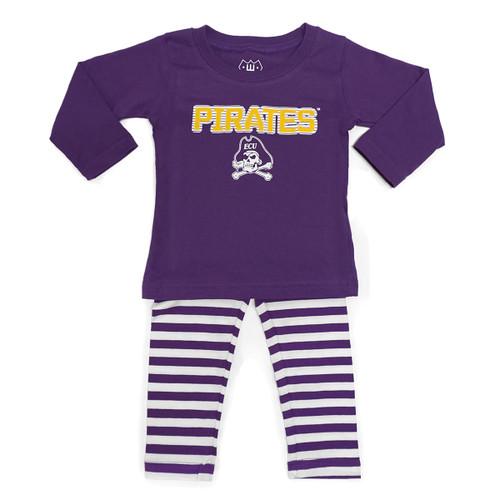 Purple Pirates Infant Shirt & Striped Pant Set