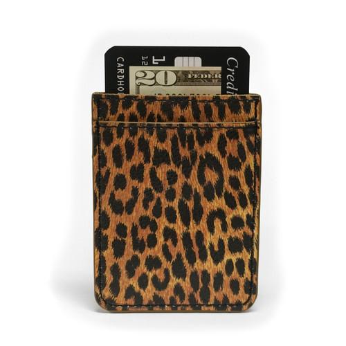 Leopard Print Phone Pocket