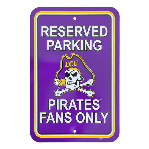 Purple Reserved Parking Pirates Sign