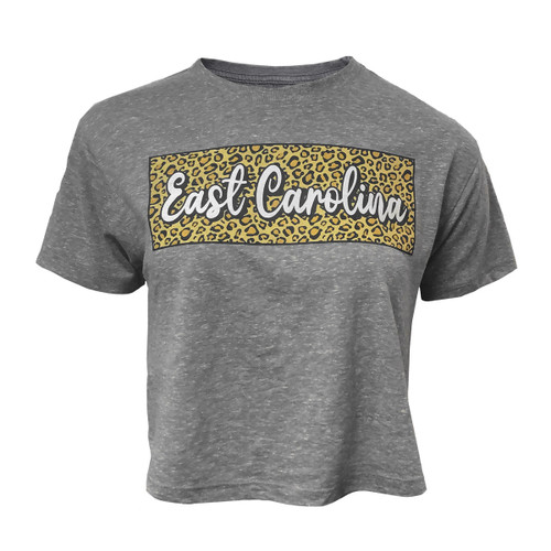 Tee Grey Crop Leopard Block East Carolina