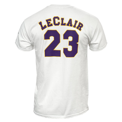 White No.23 LeClair ECU Baseball Tee