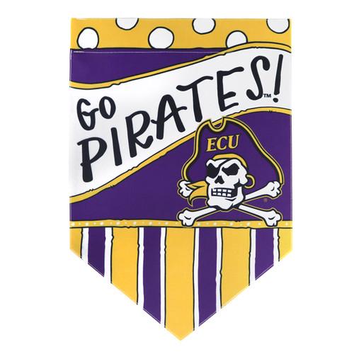 Garden Flag Go Pirates! Polka Dot & Stripes
