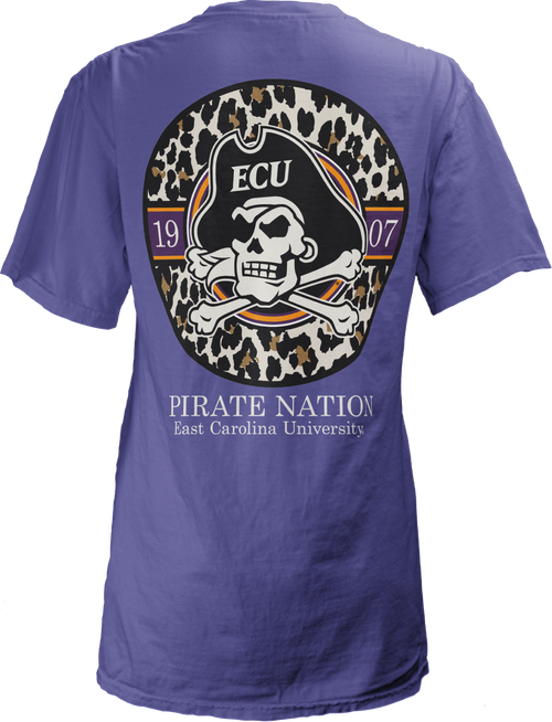 Violet Pirate Nation Leopard Circle 1907 Tee