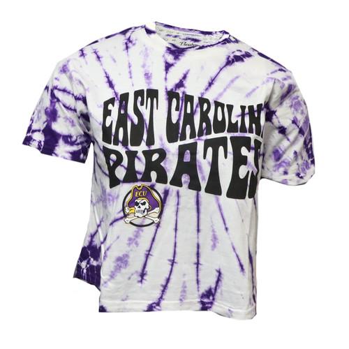Tie Dye Purple East Carolina Jolly Roger Crop