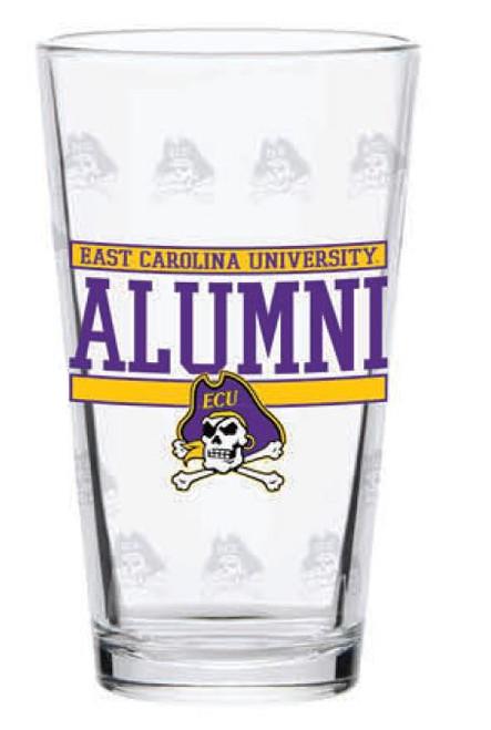 Pint Glass East Carolina JR Alumni