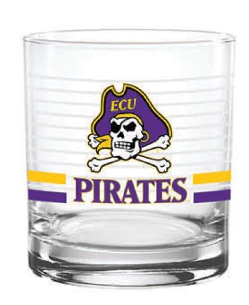 Rocks Glass Jolly Roger Pirates Stripes