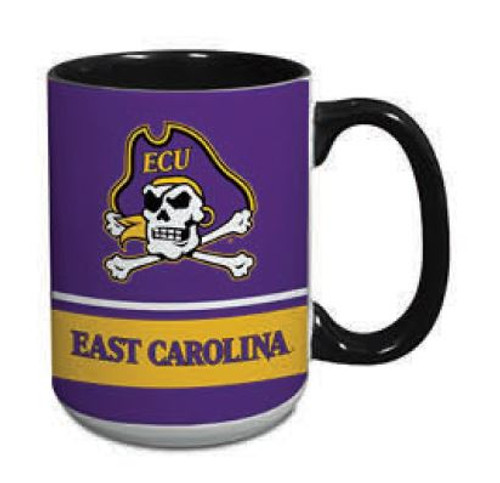 Mug 15 oz East Carolina Stripe