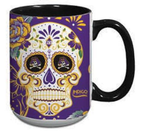 Mug 15 oz Sugar Skull Jolly Roger