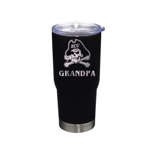 Tumbler Grandpa Black Jolly Roger Stainless 22 oz