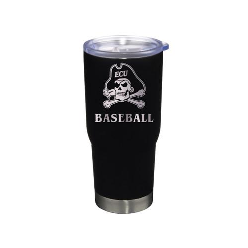 Tumbler Baseball Black Jolly Roger Stainless 22 oz