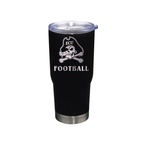 Tumbler Football Black Jolly Roger Stainless 22 oz