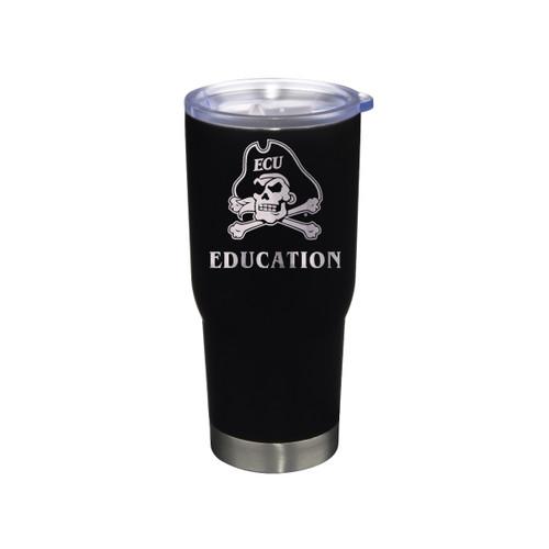 Tumbler Education Black Jolly Roger Stainless 22 oz