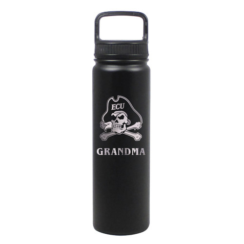 Water Bottle Grandma Black Jolly Roger Stainless 24 oz