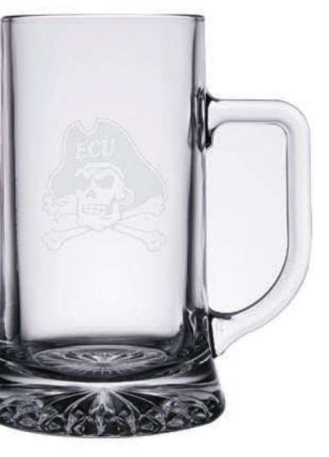 Beer Stein Jolly Roger Frost Etched