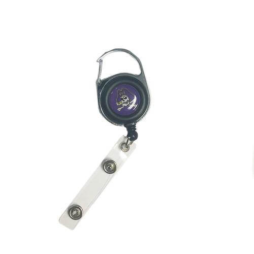 Badge Reel Jolly Roger Carabiner