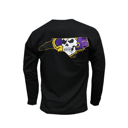 Pirate State Of Mind Long Sleeve Tee Black