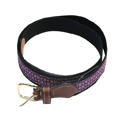 Leather ECU Belt Icon Ribbon Pattern