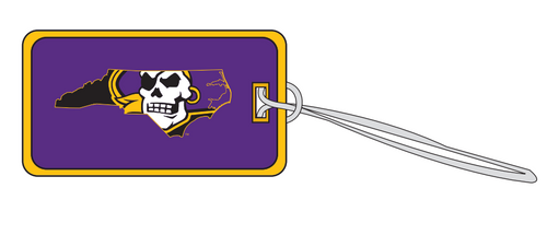 Luggage Tag Stitched Pirate State of Mind