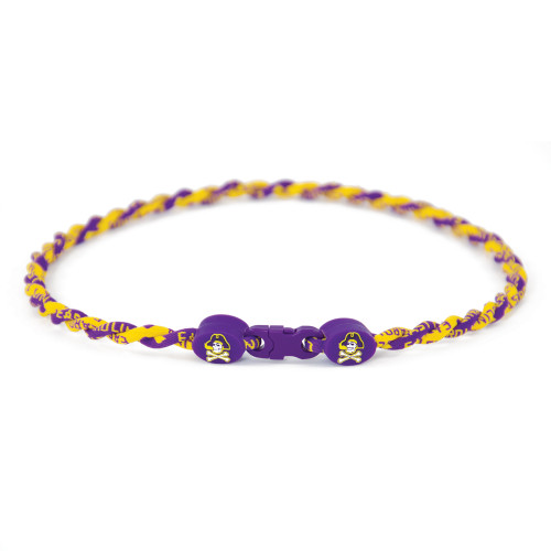 Necklace Titanium Purple and Gold Jolly Roger