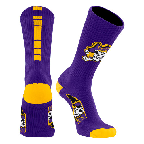 Purple and Gold  Jolly Roger Socks