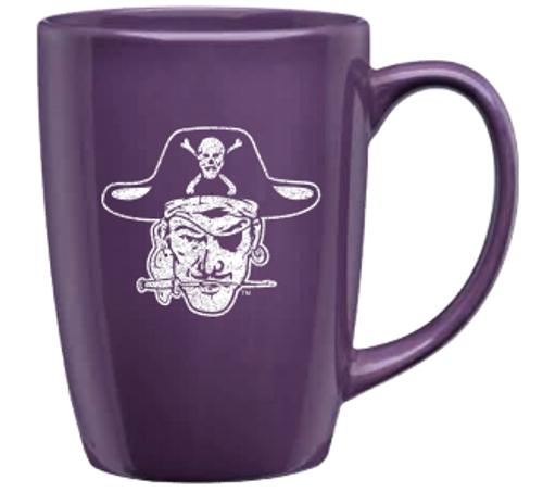 Mug Purple White Distressed Vault Pirate Head