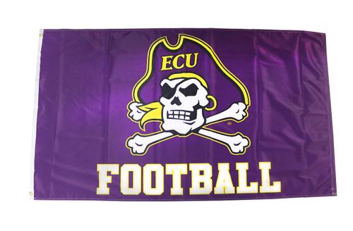 3 x 5 Purple Jolly Roger Football Flag