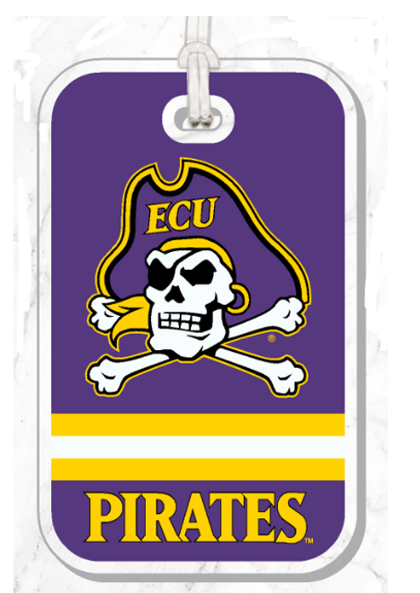 Bag Tag Jolly Roger Stripes Pirates Acrylic