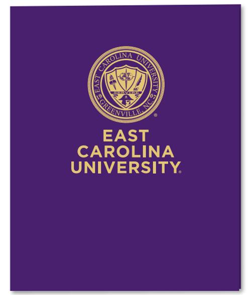 Folder Purple East Carolina  Seal