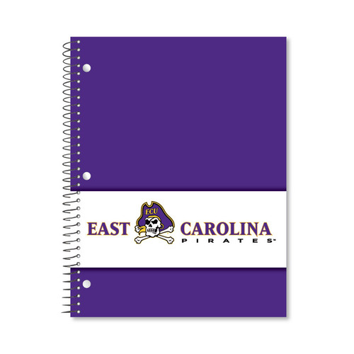 Notebook 1 Subject Jolly Roger White Stripe