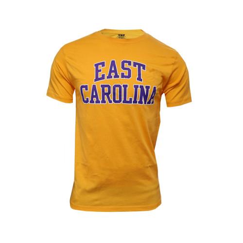 Gold/Purple East Carolina Arch Tee