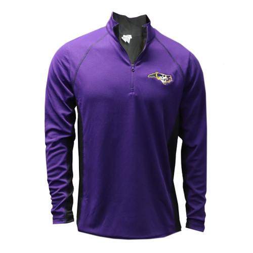 Purple Pirate State of Mind Quarter Zip Pullover