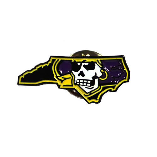 Jolly Roger Pirate State of Mind Label Pin